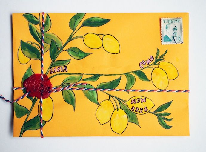 Snail mail from the lemon tree