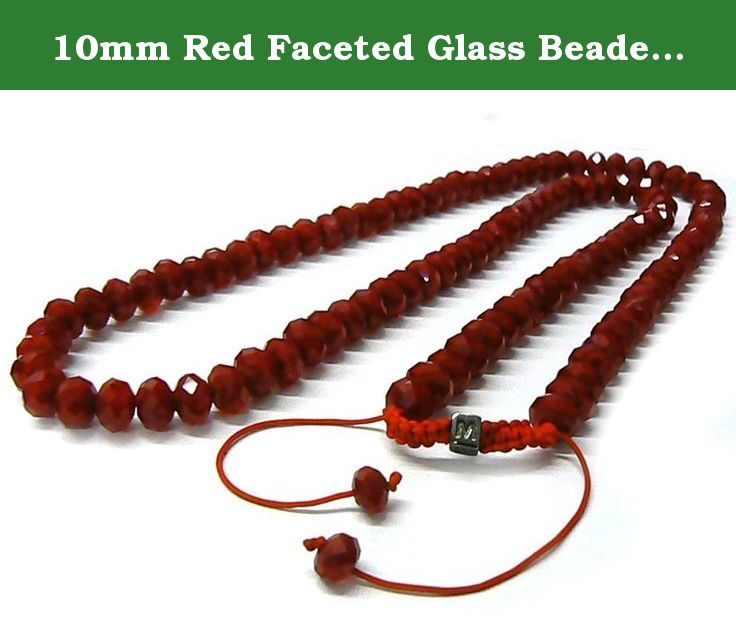 10mm Red Faceted Glass Beaded Unisex Necklaces Chain,high Quality Beads Necklace, 30 Inch. 10mm Red Faceted Glass Beaded Unisex Necklaces Chain,high Quality Beads Necklace, 30 Inch.
