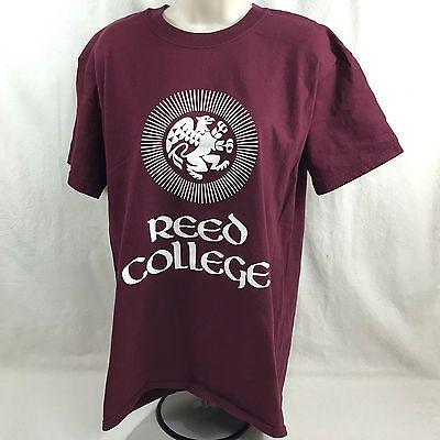 Reed College Maroon T Shirt w Griffin Reed Wear Portland Oregon Size Medium
