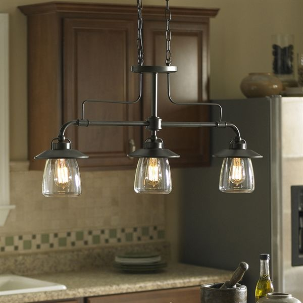 Shop allen + roth  Bristow 36-in 3-Light Island Light with Clear Shade at Lowe's Canada. Find our selection of kitchen island lighting at the lowest price guaranteed with price match + 10% off.