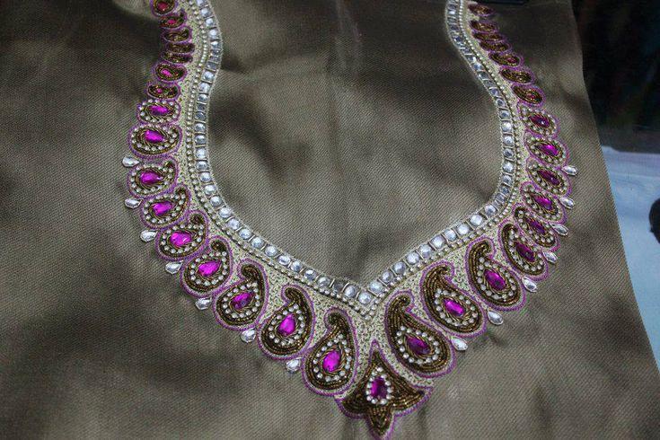 jewellery work blouse