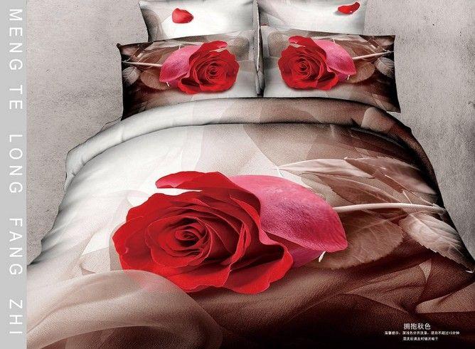 De la gota libre rosa roja tamaño king queen completa brown 3d juegos de cama edredón funda de edredón de cama de cama establece la hoja del consolador en Conjuntos de Ropa de Cama de Casa y Jardín en AliExpress.com | Alibaba Group