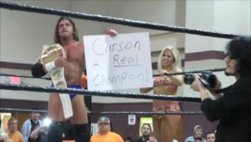 "New NWA/BOW Heavyweight Champion, Houston Carson beats Charlie Haas 3-8-14 at ""March Melee"""