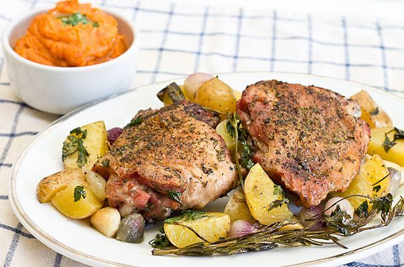 Herb Roasted Turkey Thighs – A Thanksgiving Feast for Two // wishfulchef.com