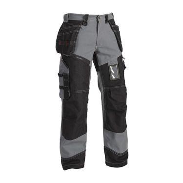 Hiking pants: Product informatie 1370: 100% Katoen, 370 g/m² Kleur9499 Grijs/Zwart Maat C44-C62 C146-C156 D84-D124 Artikel nummer 1500-1370-9499