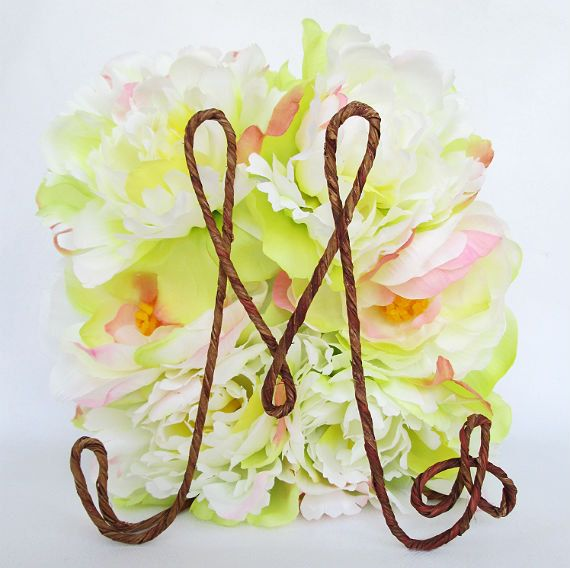 Rustic Cake Topper with Your Initial Table Centerpiece by AntoArts, $20.00