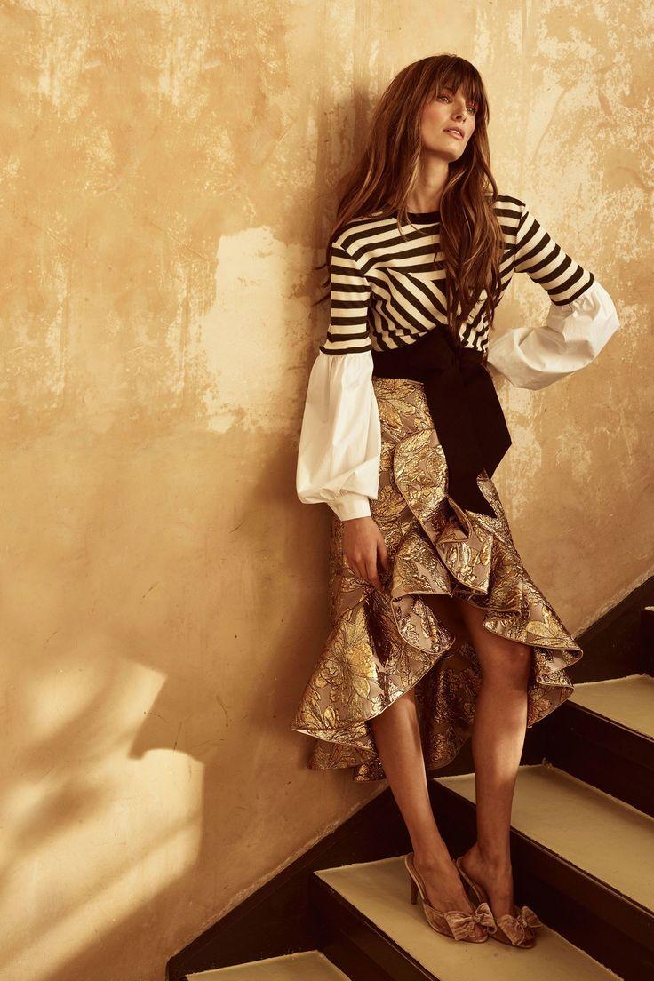 Inspiracion falda estampada asimétrica con volante - johanna Ortiz Resort 2018 Fashion Show Collection
