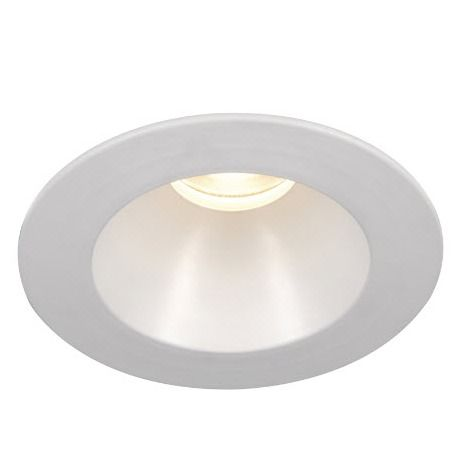 3000K 3in Tesla LED High Output Recessed Lighting Wet Location Shower Trim with Open Round Reflector