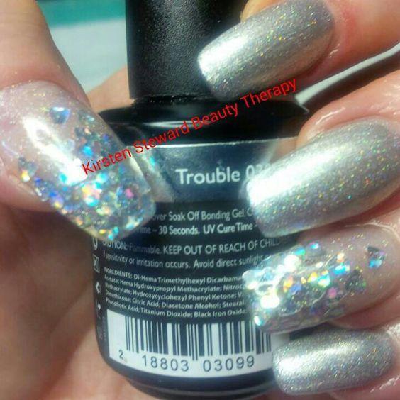 Artistic Colour Gloss Trouble Available At Louella Belle #ArtisticNailDesign #ArtisticColourGloss #SilverNails #Silver #GelPolish #LouellaBelle