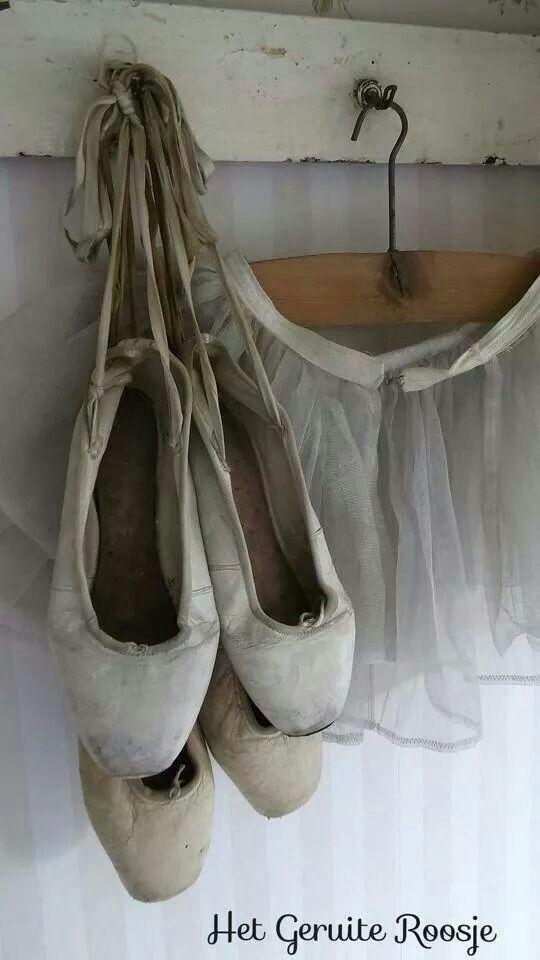 Brocante - ballet - Underbara ballerina skor. Vill ha....
