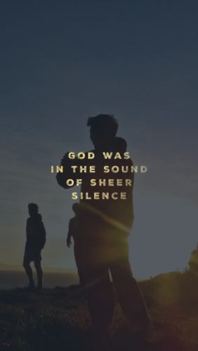"And after the earthquake a fire, but the Lord was not in the fire; and after the fire a still small voice. 1 Kings 19:12 What does God's voice sound like? In 1 Kings 19, the Prophet Elijah is afraid for his life and on the run. He prays in verse 4, ""I have had enough, Lord, Take my life, for I am no better than my ancestors who have already died."" (ever felt like that?) Then the writer of Kings tells us that an Angel appeared to him... <<CLICK THE IMAGE TO KEEP READING>>"