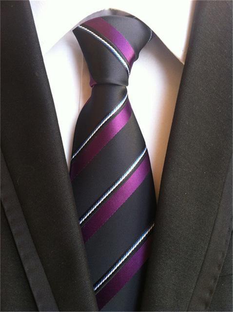 2354481f6008 SCST Brand Corbatas 2017 New Gravata 8cm Slim Mens Wedding Neckties Gold Yellow  Striped Print Silk Ties For Men Tie Black A031