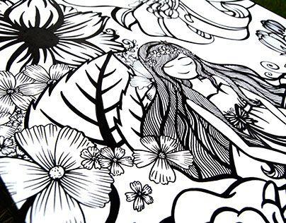 """Consulta mi proyecto @Behance: """"La Princesa del jardín"""" https://www.behance.net/gallery/24528109/La-Princesa-del-jardin"""