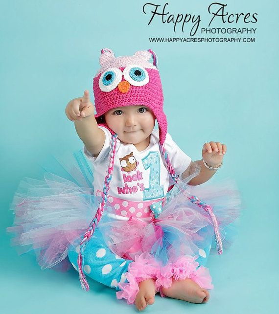 First Birthday Girl Outfit Owl Hoot Bodysuit by whimsytots on Etsy, $70.50