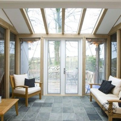 The Counting House Oak Framed and Glazed Conservatory Extension with Glazed Roof