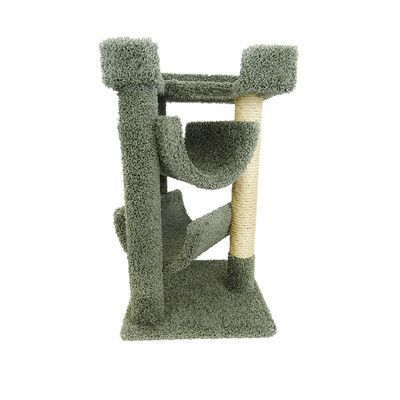 "New Cat Condos 33"" Premier Cat Scratching Tree Color: Green"