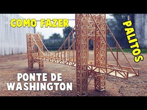 Presente Criativo - Ponte de george washington de Palitos - Artesanato para decoração -