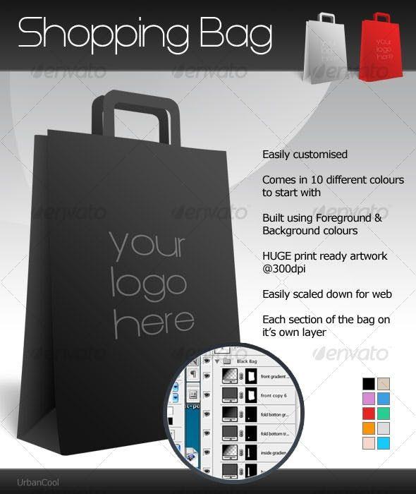 Download Customisable Shopping Bag Mockup Design Packaging Mockup Bag Mockup