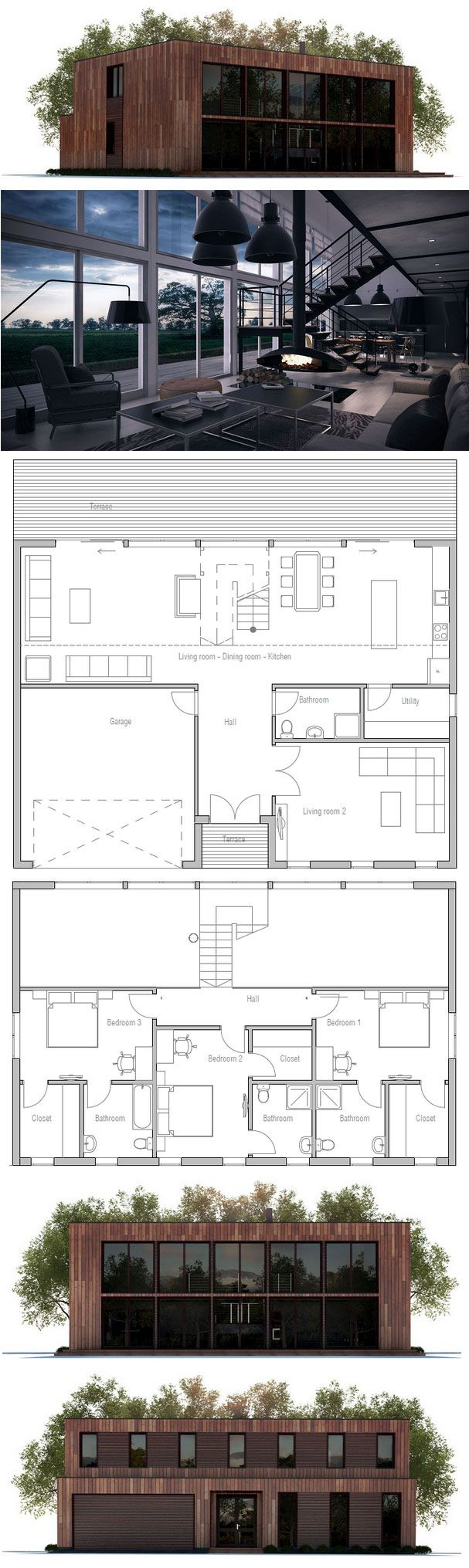 Plan de maison architecte maison ragondin 160 m moderne for Plan architecte logiciel