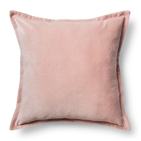 "Velvet Decorative Pillow Cover Blush Pink (18""x18"") - Threshold™ : Target"