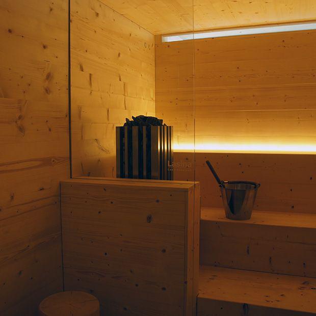 Sauna with a soft light