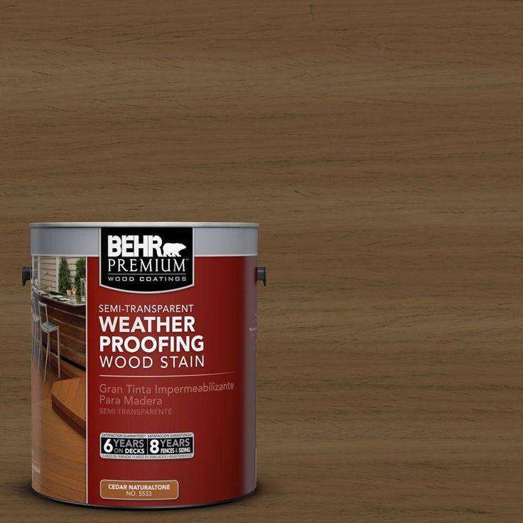 Exterior White Stain For Wood: BEHR Premium 1 Gal. #ST-109 Wrangler Brown Semi