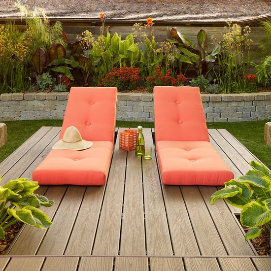 absolutely love the colour of these gorgeous loungers garden and outdoor design ideas renovations