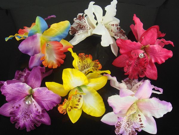 New Pretty Orchid Flower Wedding Bridal Hair Clip Pin 6 Color To Choose, SP-406 US $4.99