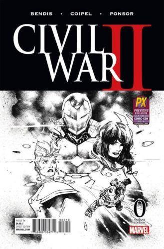 CIVIL WAR II #0 (OF 8) SDCC 2016 COIPEL B&W VAR