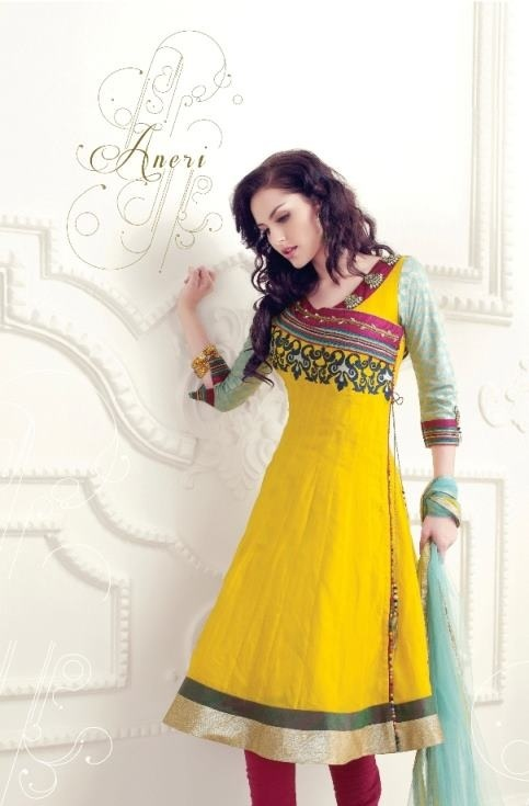 Anarkali dress - like the pattern for simple ocassion
