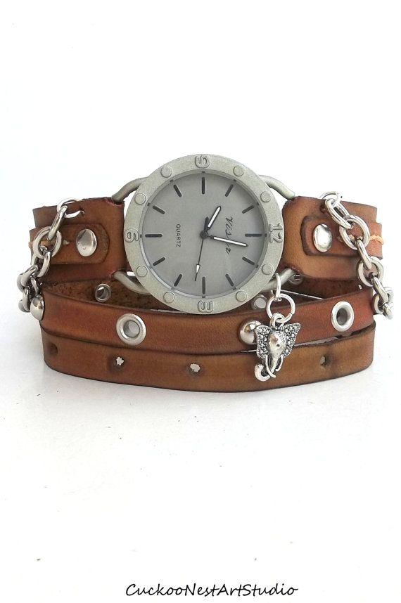 wrap womens leather bracelet chain