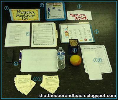 Responsive Classroom Morning Meeting Kit blog post via Shut the Door and Teach #ResponsiveClassroom #MorningMeeting