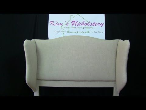 How To Build A Wingback Headboard - YouTube   Cabecero espectacular !