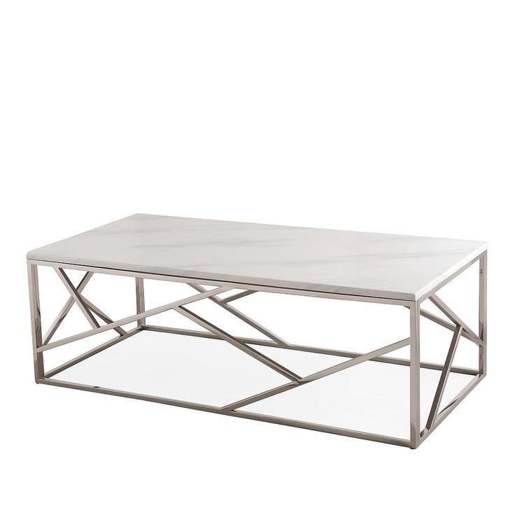 TOV Furniture Modern Gayle Silver Coffee Table TOV-OC3745