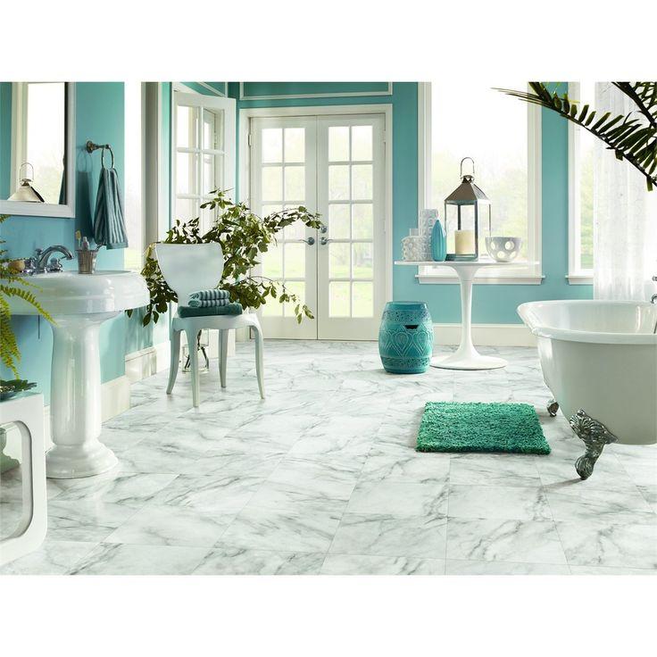 Shop Armstrong Crescendo 12 In X 12 In Groutable Camaberley Limestone  Peel And. Laundry Room FloorsBathroom ...