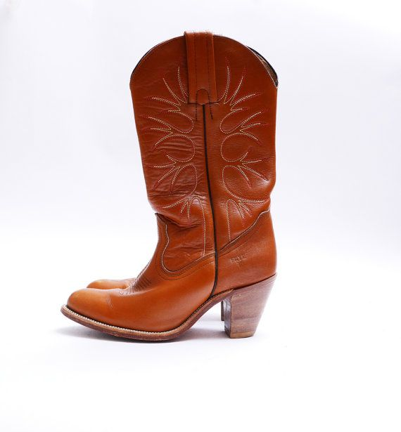Vintage Frye Absätzen Cowgirl Stiefel / / von WelcomeHomeVintage