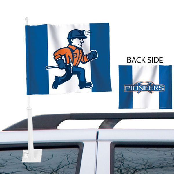 Wisconsin-Platteville Pioneers 11.5'' x 13'' Tier Two-Sided Car Flag - $6.99