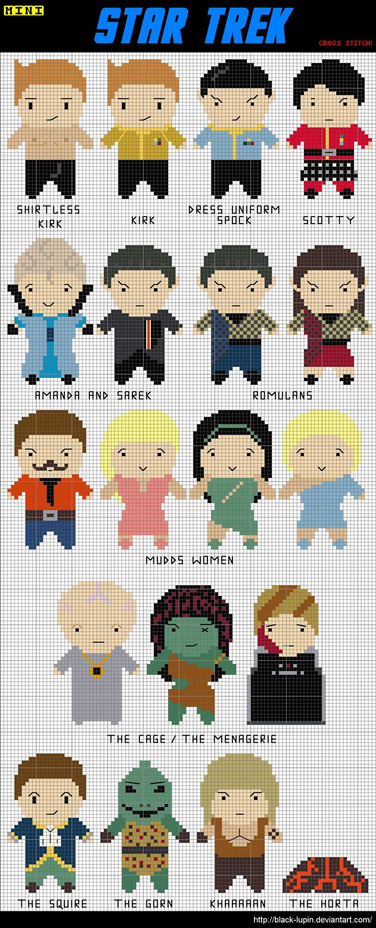 19 Mini Star Trek Cross Stitch by *black-lupin on deviantART