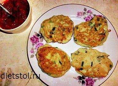 оладьи из кабачков с зеленым луком