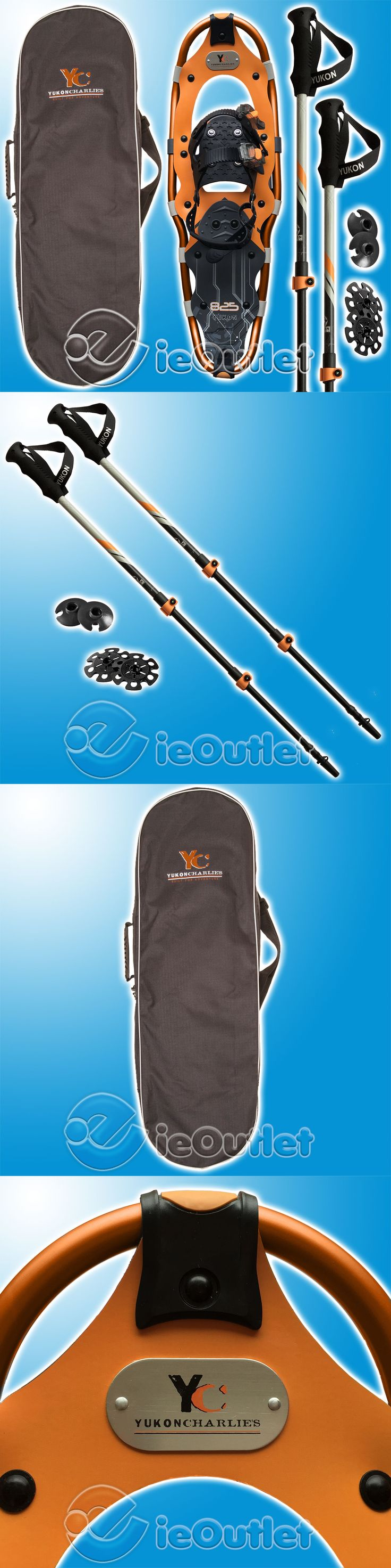 Snowshoeing 58136: New Yukon Charlie S 8 X 25 825 Snowshoe Kit W Hiking Poles And Carry Bag - Orange -> BUY IT NOW ONLY: $84.96 on eBay!