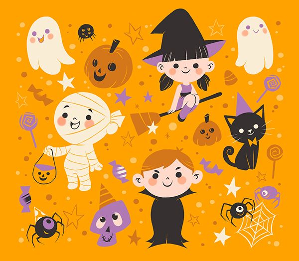 Halloween Illustration for Kids by Pamela Barbieri