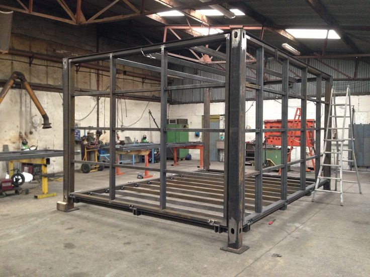 Specisl Shipping Container being fabricated. This is going to be a cafe.