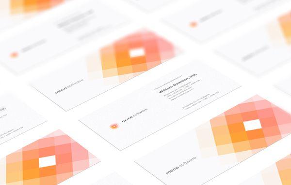 Mono Software Corporate Identity by Krešimir Kraljević, via Behance