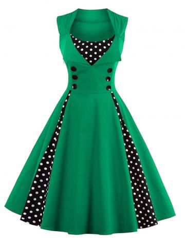 GET $50 NOW   Midi Polka Dot Prom DressFor Fashion Lovers only:80,000+ Items • New Arrivals Daily • FREE SHIPPING Affordable Casual to Chic for Every Occasion Join RoseGal: Get YOUR $50 NOW!http://www.rosegal.com/vintage-dresses/retro-button-embellished-polka-dot-852911.html?seid=6913810rg852911
