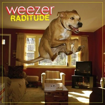 """Weezer - """"Raditude"""" (2009). Art direction and design by Andy Mueller and Johannes Gamble, photography by Jason Neely."""