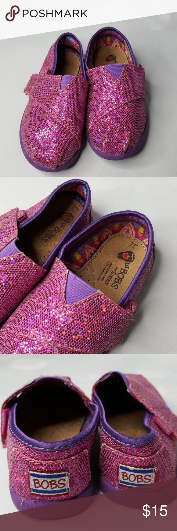 Bob's pink girly shoes (by skechers) Pink glittery shoes for little girls Skechers Shoes