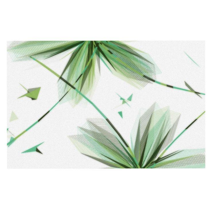 """Alison Coxon """"Flower Teal"""" Decorative Door Mat"""