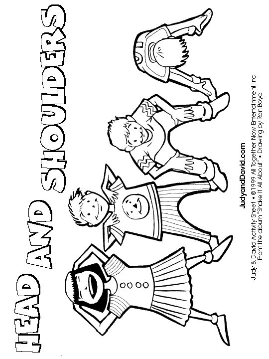 Colouring Page Head Shoulders Knees And Toes Headshou
