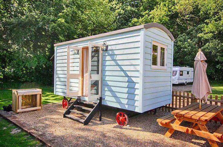 Shepherd's Hut Glamping Norfolk Campsite Woodland Quiet