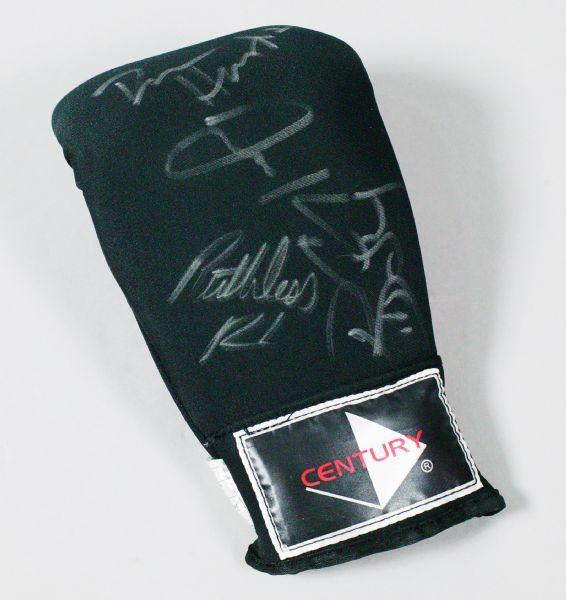 Dan Henderson, Robbie Lawler, Josh Koscheck +1 other Autographed Century Trainer Glove